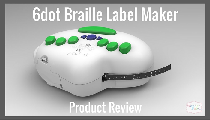 white and green 6dot braille label maker