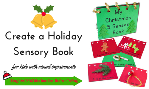 Book pages from 5 senses Holiday book