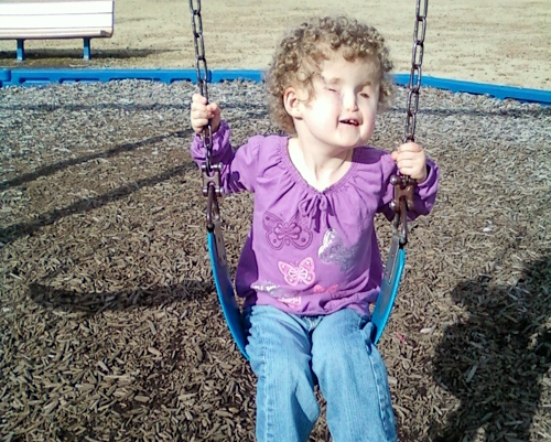 Madilyn on the swing