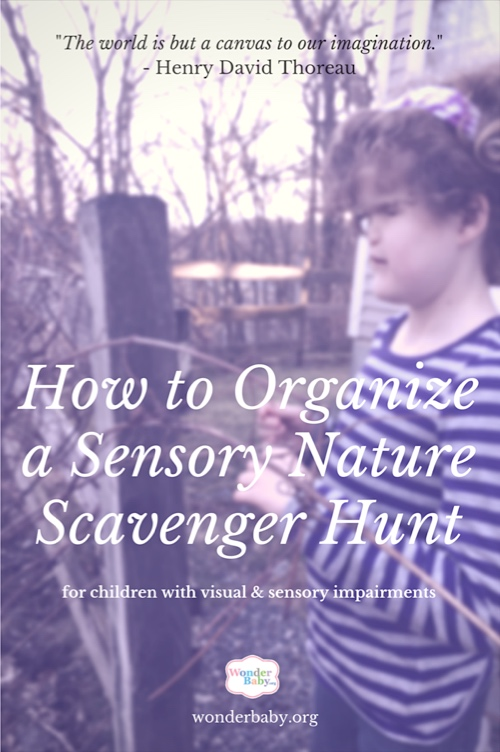 How To Make Playing Outdoors Fun with a Sensory Scavenger Hunt