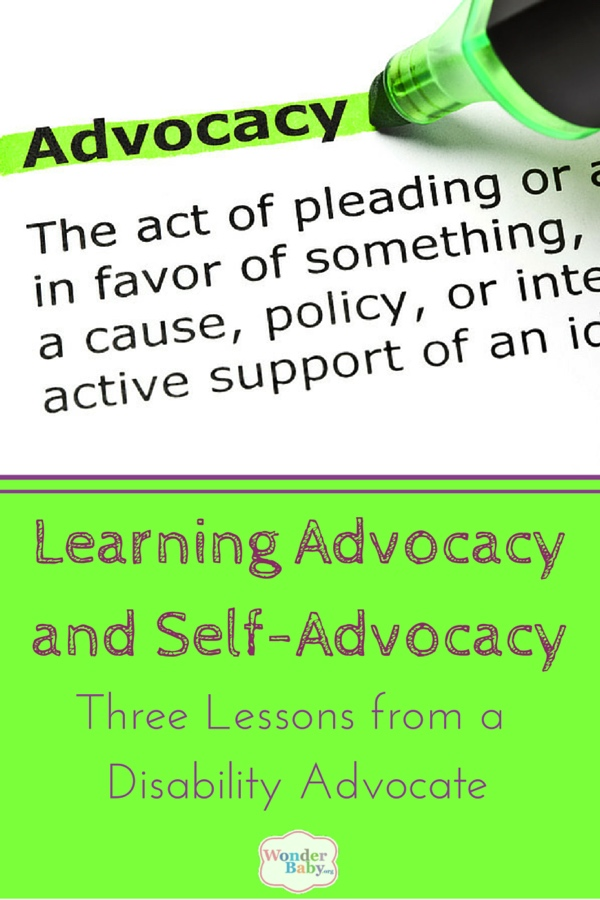 Learning Advocacy and Self-Advocacy: Three Lessons from a Disability Advocate