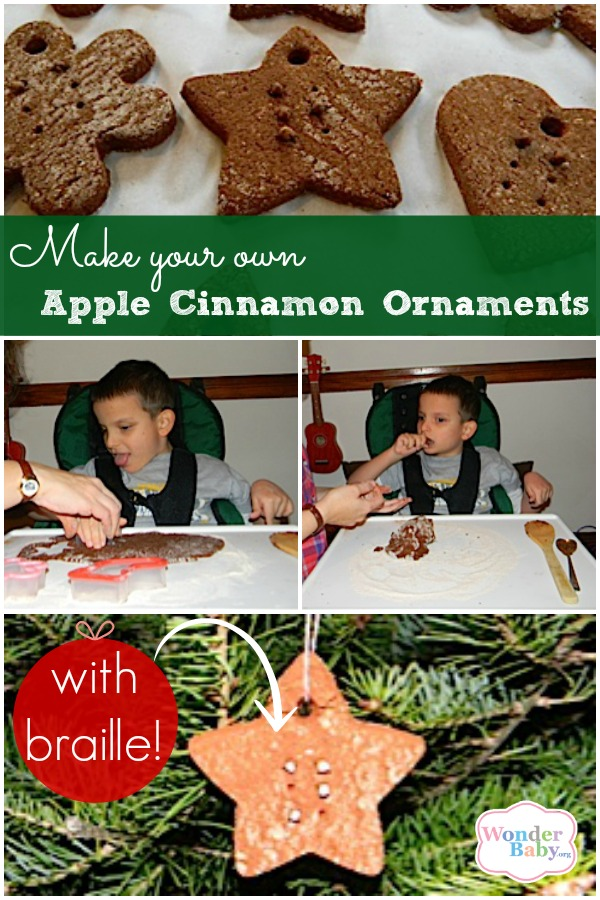 Make Your Own Braille Apple Cinnamon Ornaments