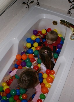 ball pit in the tub