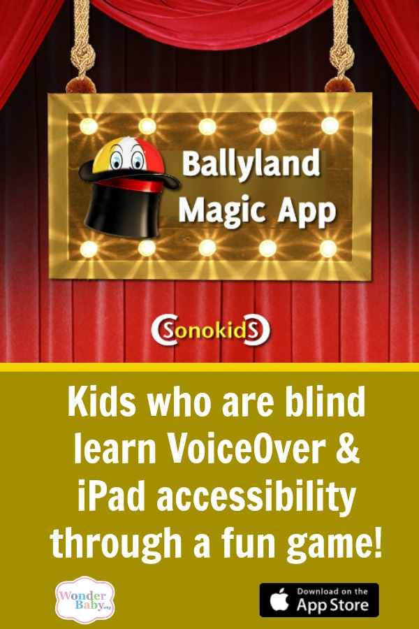 Ballyland Magic App: Introducing visually impaired kids to iPad accessibility features
