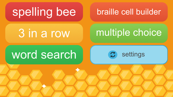 Braille Bee screenshot of game options