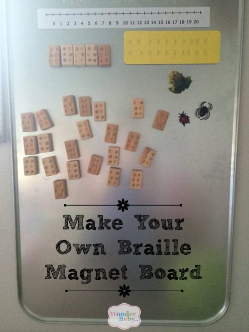 Make Your Own Braille Magnet Board Wonderbaby Org
