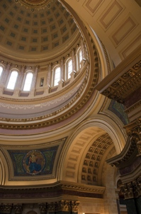 dome inside the capitol building in Wisconsin