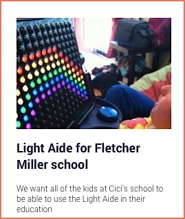 Cici's fundraiser page