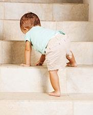 baby climbing stairs