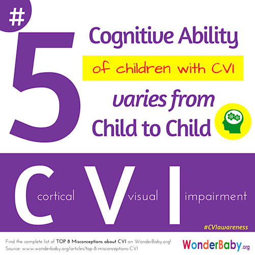 Each child with CVI will have different cognitive abilities from any another