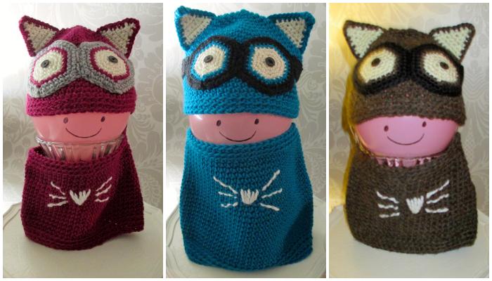hand-made crochet hat & cowl set