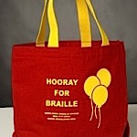 braille board book tote bag
