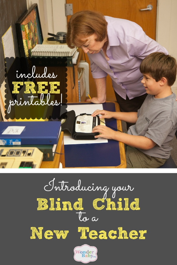 Introducing Your Blind Child to a New Teacher
