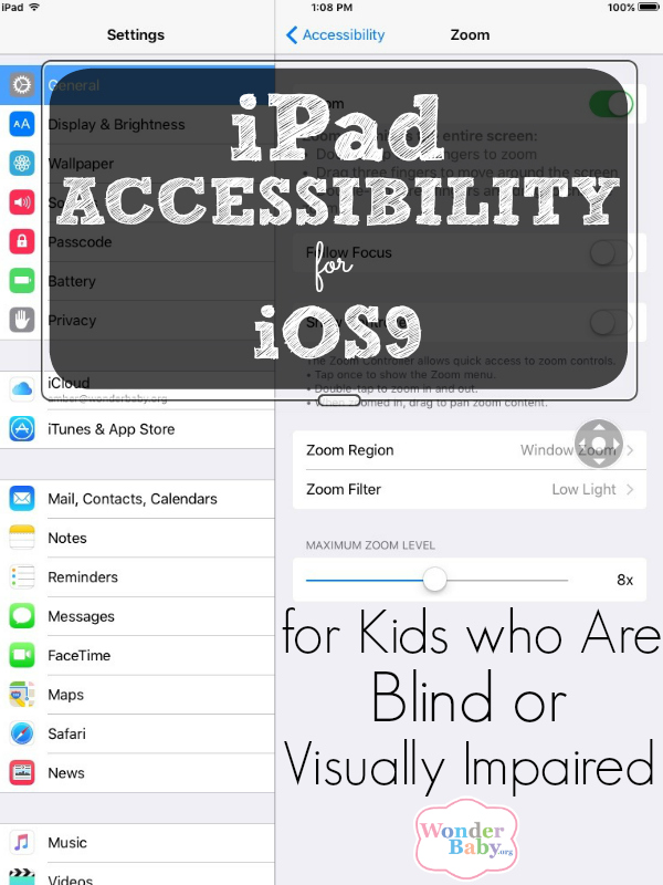Top 10 iPad & iOS9 Accessibility Features