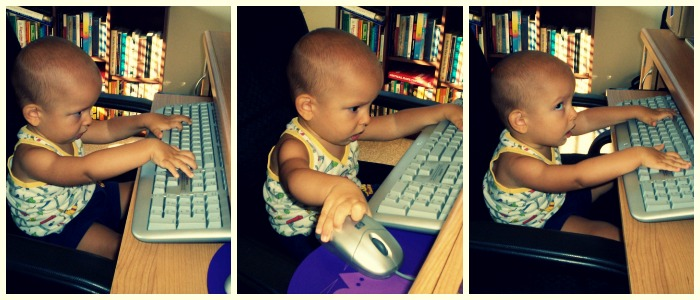 Baby Ivan at the computer