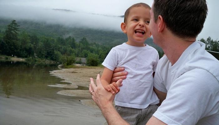 Ivan and dad at the lake