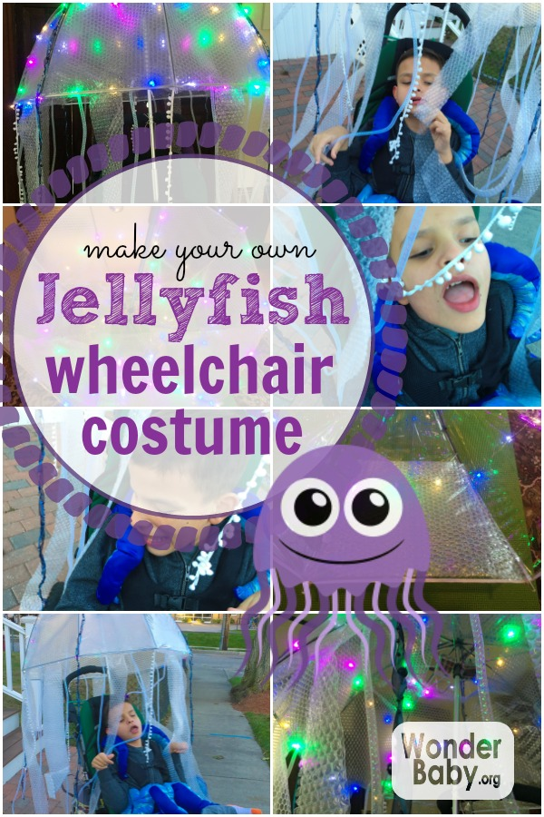 Make your own jellyfish wheelchair costume