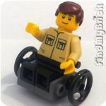 Lego City Minifigure with Custom Wheelchair