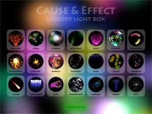 Screenshot of Sensory Light Box home page