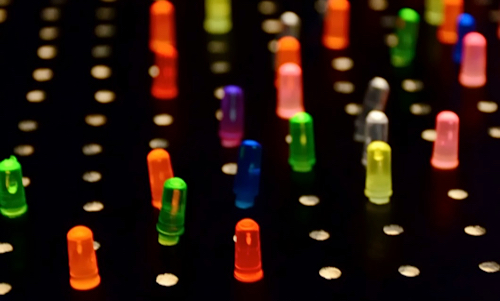 close up of lite brite