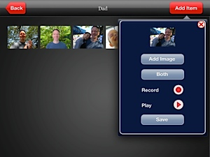 Screenshot of My Talking Picture Board image setup