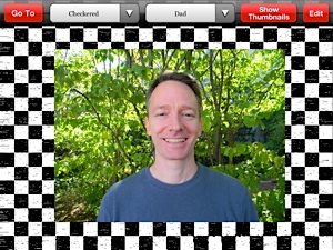 Screenshot of My Talking Picture Board large image with checkerboard background