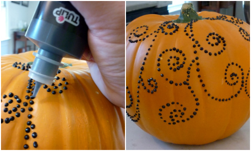 Puffy Paint Pumpkin