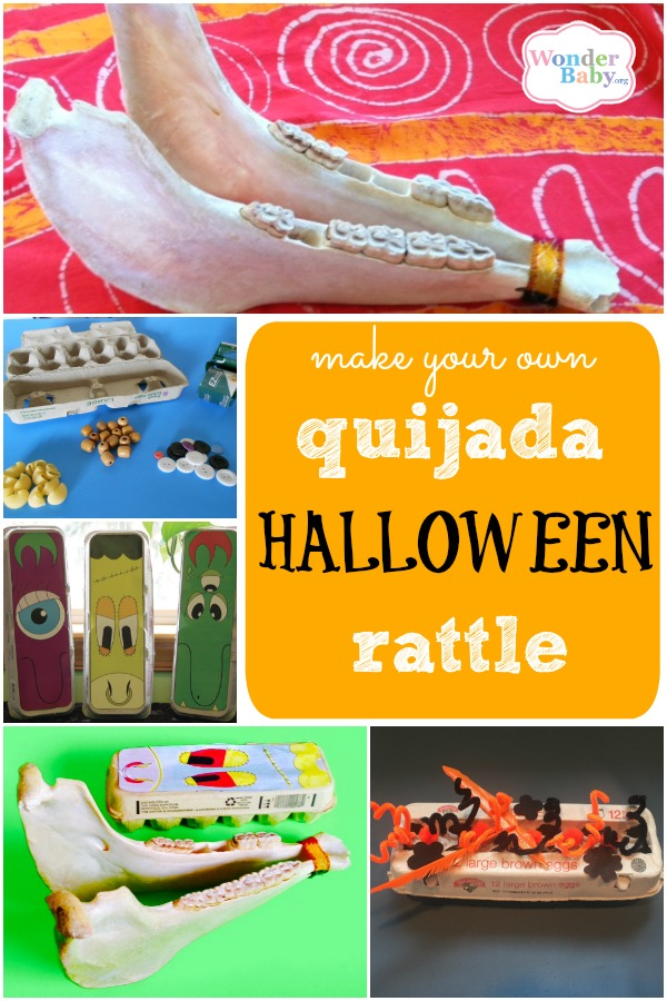A Silly Sensory Rattle for Halloween