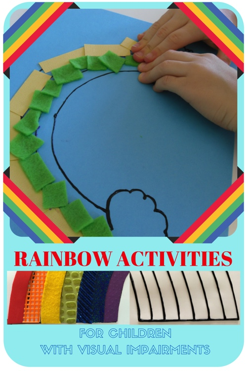Rainbow Activity for Teaching Blind Children About Colors