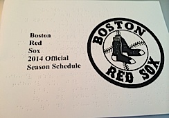 Red Sox season schedule in braille