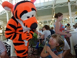 Alexis meets Tigger at Disney