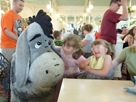 Alexis & Jessica meet Eeyore at Disney