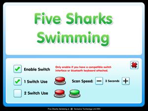 Five Sharks Swimming screenshot