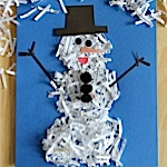shredded paper snowman project