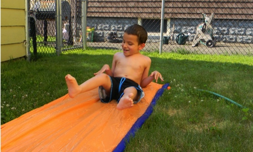 Ivan on the Slip 'n Slide