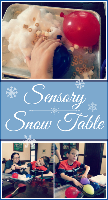 Learn how to make your own sensory snow table