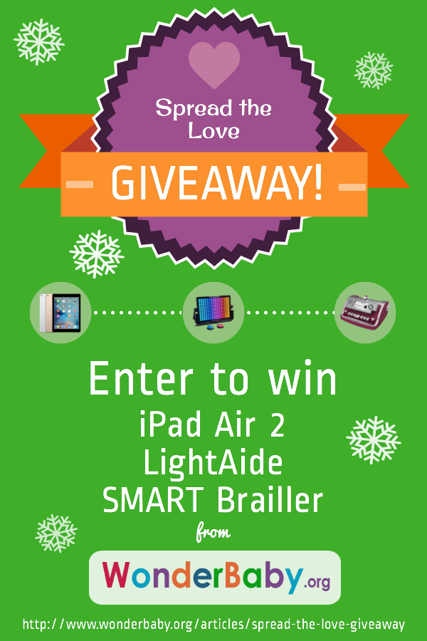 Enter to win an iPad Air 2, a LightAide and a SMART Brailler!