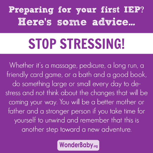 Preparing for your first IEP? Here's some advice... stop stressing!