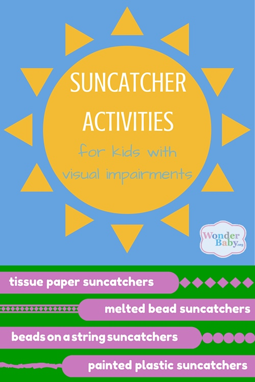 Suncatcher Activities for Kids with Visual Impairments