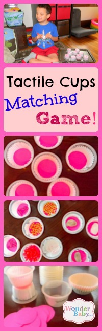 Tactile Cups Matching Game