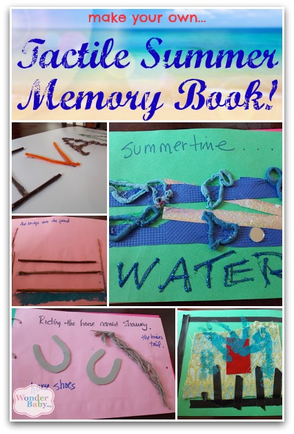 pictures of our tactile summer memory book