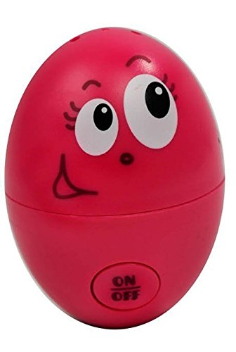 red Easter egg with a smiling face