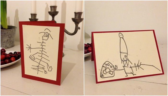 Theo's tactile Christmas cards