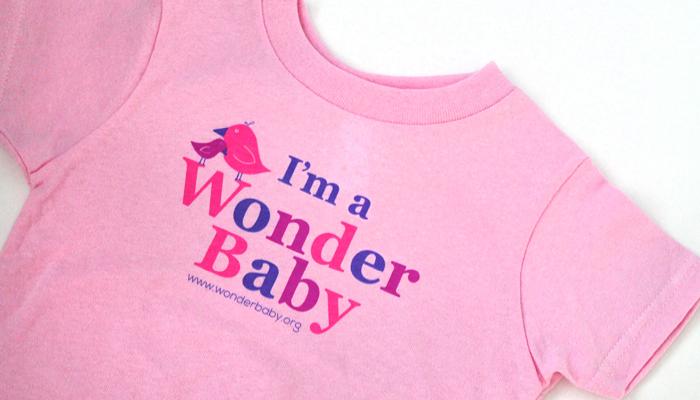 pink WonderBaby t-shirt
