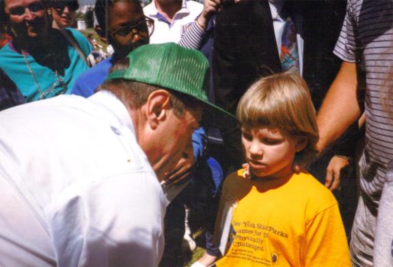 Skylar meeting Governor Cuomo