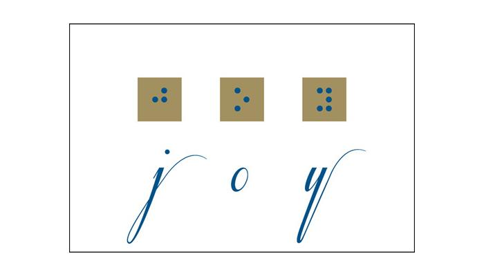 graphic about Braille Printable titled Print/Braille Xmas Playing cards Giveaway