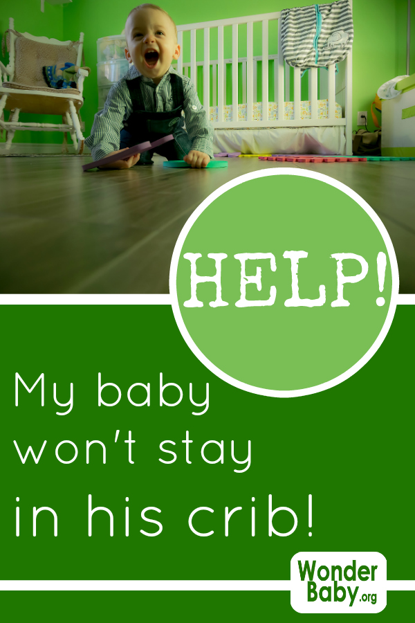 Help! My Baby Won't Stay in His Crib!