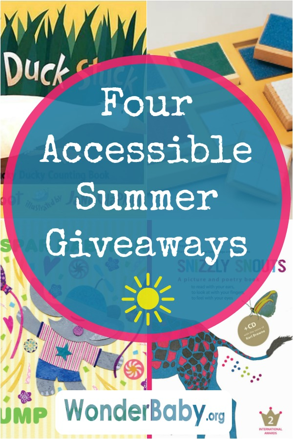 four accessible summer giveaways for kids who are blind