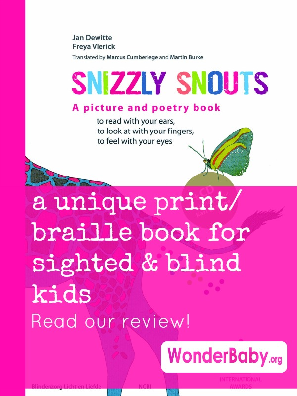 Snizzly Snouts: A Unique Print/Braille Book for Sighted and Blind Kids