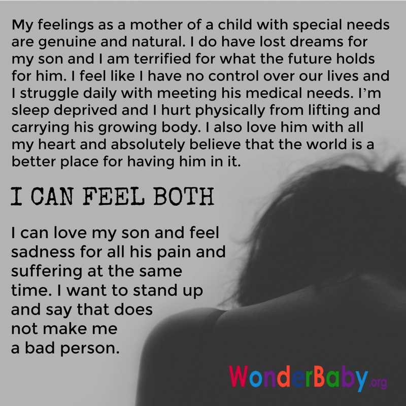 emotions of a special needs parent